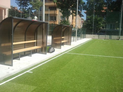 Covered benches