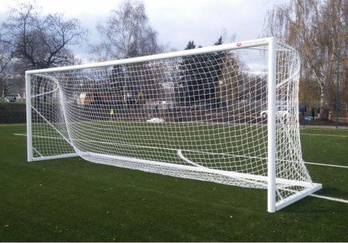 Врата футболна 7,32х2,44 м, от алуминий, свободностояща-0