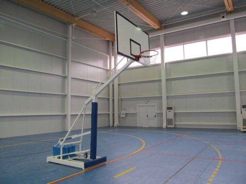Basketball stand mobile, for sport halls-0