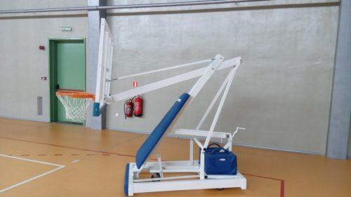 Indoor basketball stands