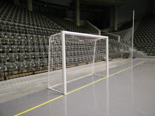 Football goal 3x2 m, oval aluminium 120x100 mm-0