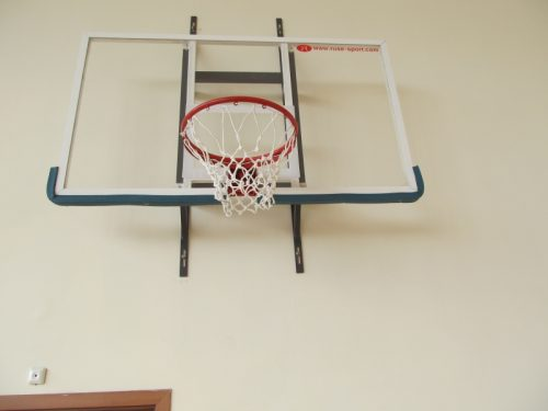 Backboard 180x105 cm - plexiglass with stell frame-0