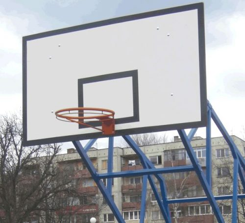 Backboard made of technical plywood 180x105 cm-0