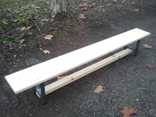Gymnastic bench with walking/balance beam-0
