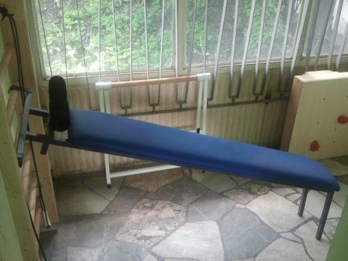 Bench for crunches,upholstered for wall bar-0
