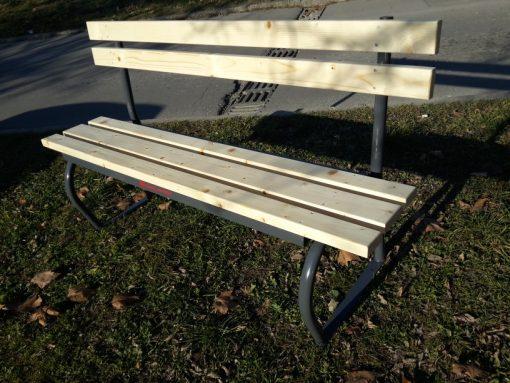 Паркова пейка с облегалка-0