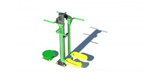 Комбиниран уред за външен фитнес №4-0