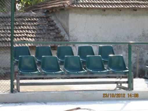 Трибуни със стъклопластови седалки - мултифункционална спортна площадка - Шабла-592
