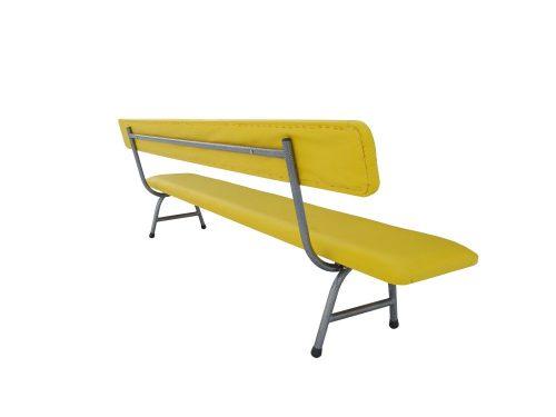 Тапицирана пейка с облегалка 180х30х30 см-0