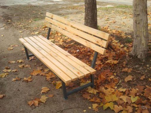 Паркова пейка с облегалка-383
