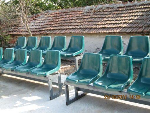 Трибуни със стъклопластови седалки - мултифункционална спортна площадка - Шабла-0