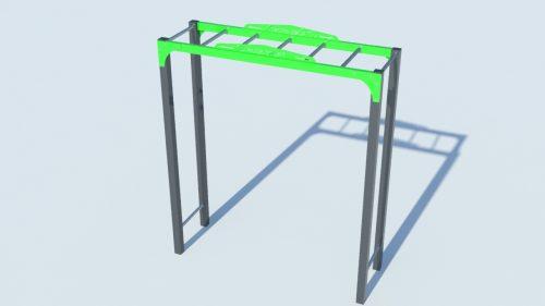 Тарзан 1 - стрийт фитнес хоризонтална стълба за ръце-0