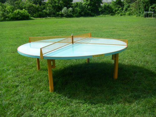 Round metal tennis table-0