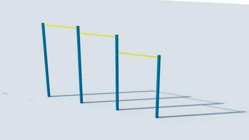 Лост за външно ползване - стрийт фитнес с класически дизайн-0