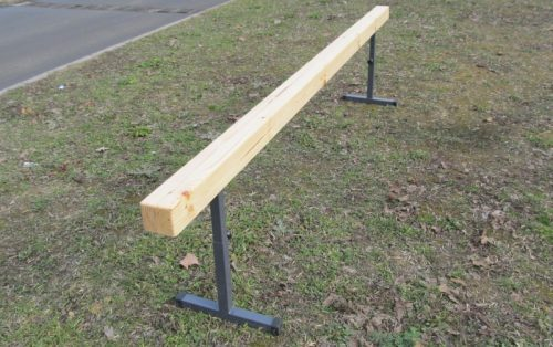 Gymnastic beam 3 m with telescopic height adjustment-0