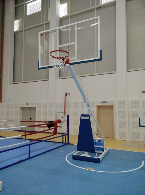 Basketball mobile stand with Plexiglas backboard-0