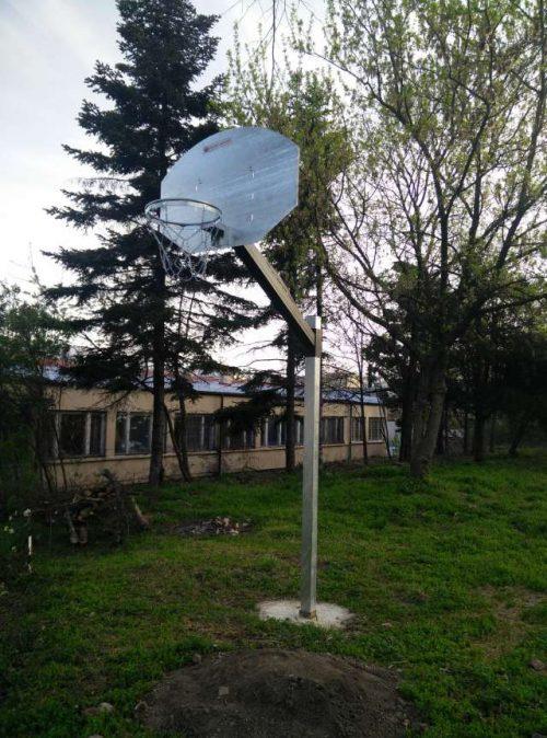 Баскетболна стойка модел стрийт стомана-0