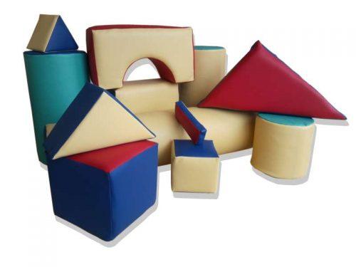 Куб дунапрен и кожа 300х300х300 мм-0