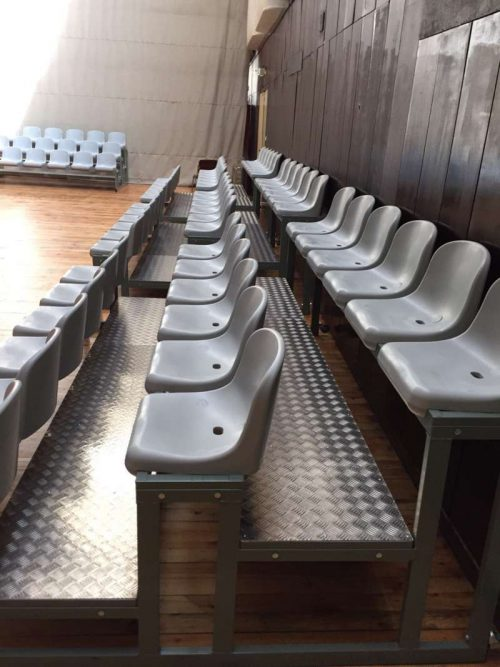 Tribunes with PVC seats - Palace of culture and sport - city of Varna, Bulgaria-0