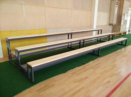 Трибуна тип пейка на три реда-1300