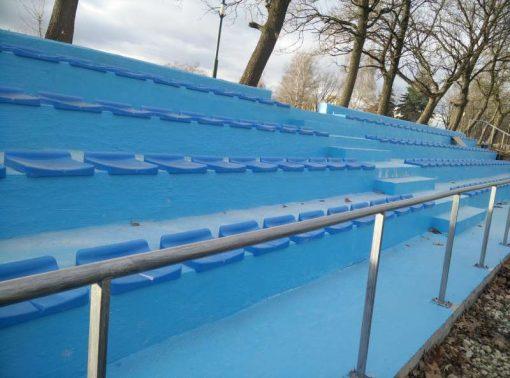Пластмасова седалка за стадион без облегалка-0