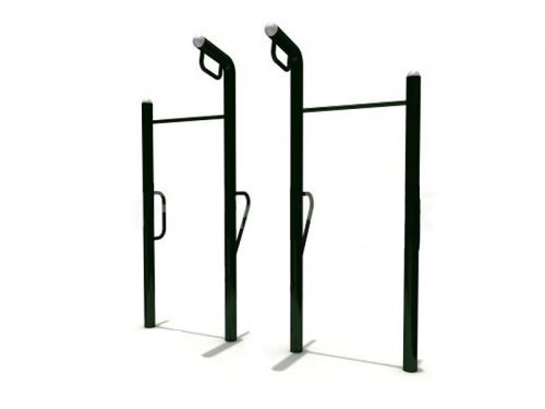 Outdoor set of two bars, rings and parallel bars-0