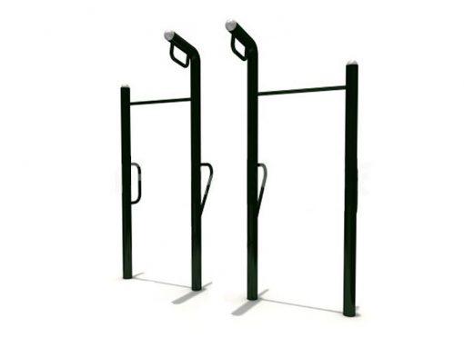 Външен гимнастически к-с - два лоста, халки и уред за кофички-0