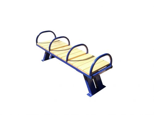 Street fitness bench with handles-0