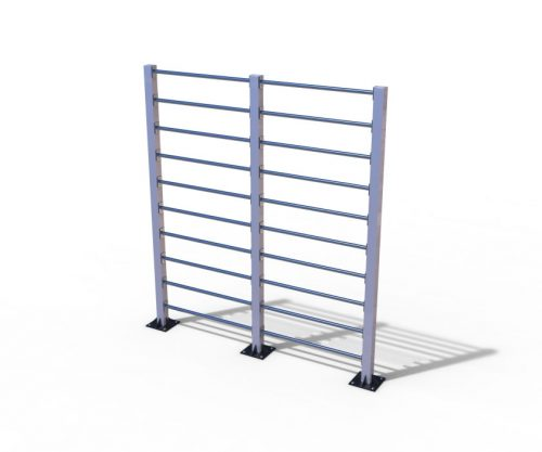 Double outdoor wall bar-0
