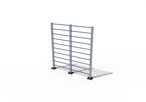 Double outdoor wall bar stainless-0