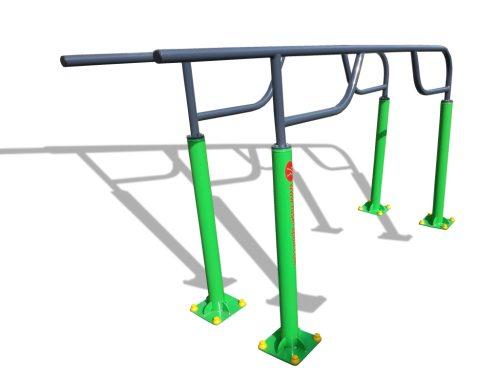 Street fitness designed parallel bars-0