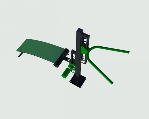 Adjustable abs bench and dip bar-0