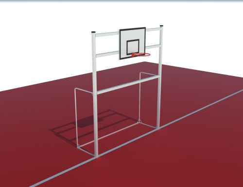 football goal 3x2 aluminium with basketball