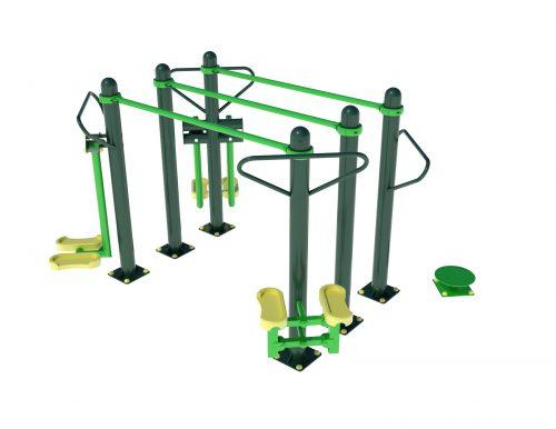 комбиниран външен фитнес уред