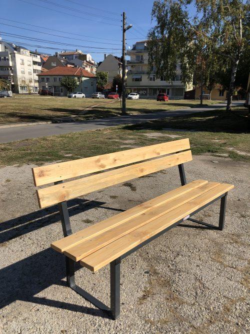 паркова пейка с облегалка