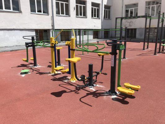 комбиниран външен фитнес уред 7 в 1