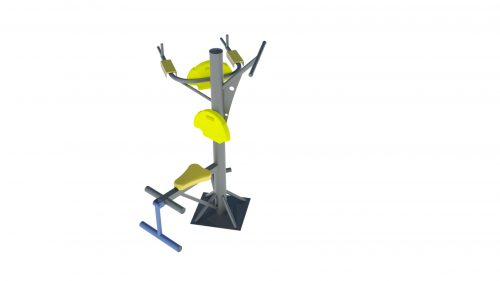 triple outdoor workout equipment