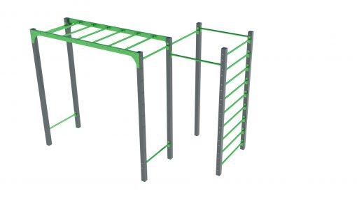 Маймунска стълба с шведска стена и лостове за набиране