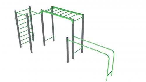 parallel bars monkey ladder