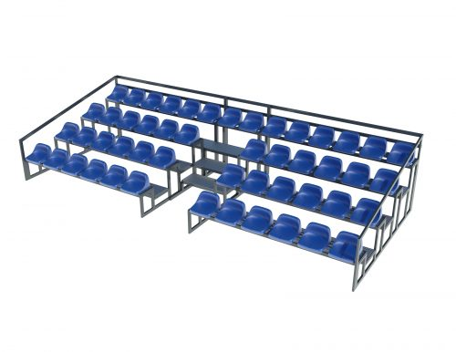 spectator tribune on 4 rows for stadiums