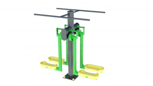 legs machine double outdoor fitness