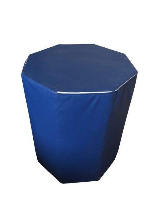 Осмоъгълник от дунапрен и кожа 1 х 0,75 м-0