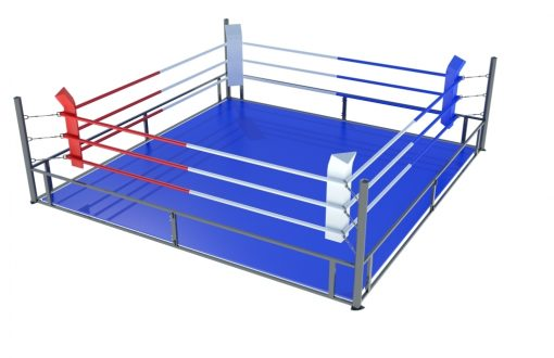 Foldable boxing ring 5x5 m-0