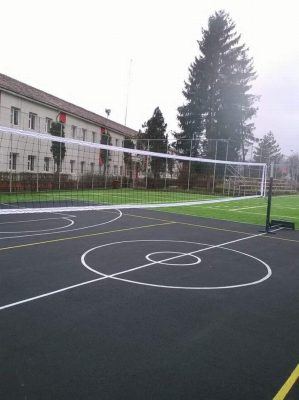 mobile volleyball facility